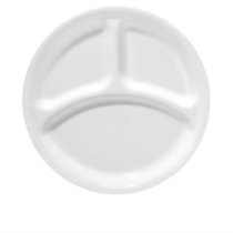 Corelle Winter Frost White Divided Plate - 22cm
