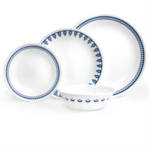 Corelle Porto Calle 16pc Dinner Set - 4 dinner plates, 4 luncheon plates, 4 bread & butter plates and 4 cereal bowls